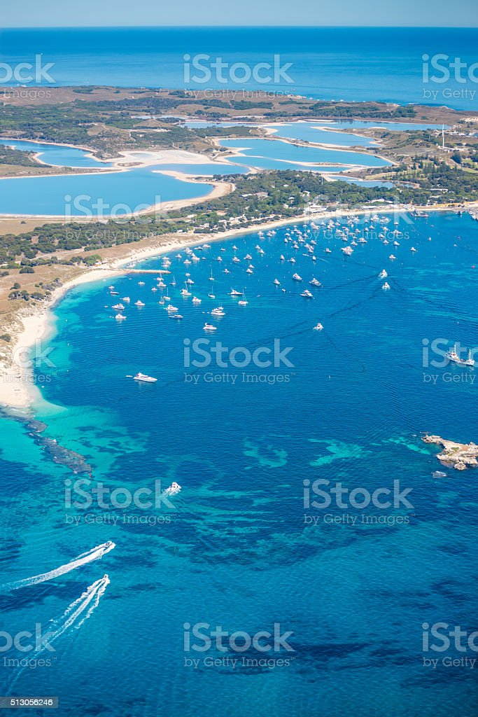 Rottnest Island from the Air stock photo