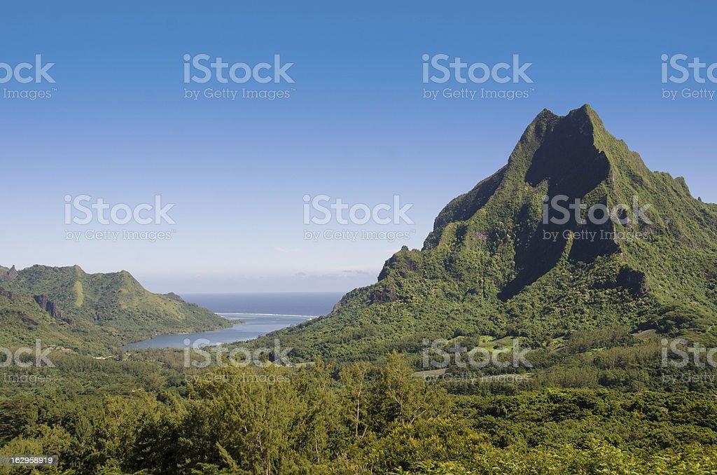 Rotui Mountain Scenic View ... Moorea stock photo