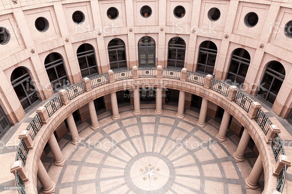 Rotunda at Texas State Capitol, Austin stock photo