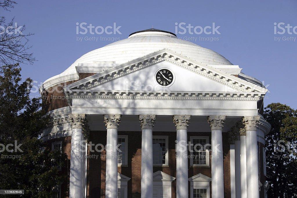Rotunda at the University of Virginia stock photo