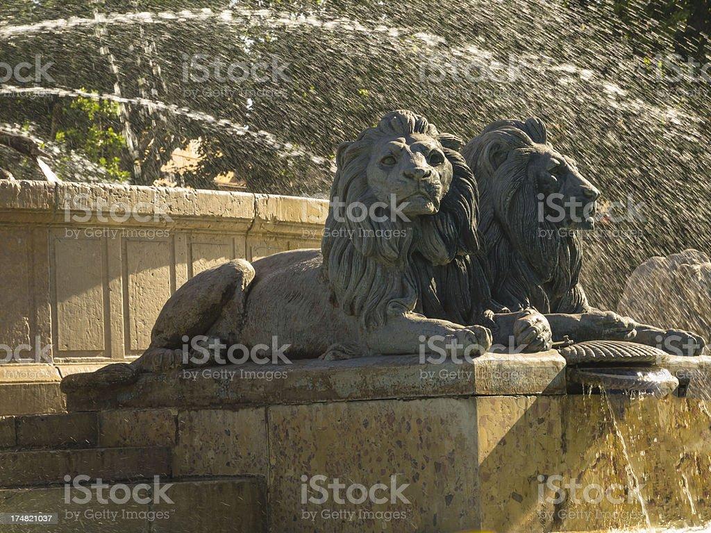 Rotunda fountain royalty-free stock photo