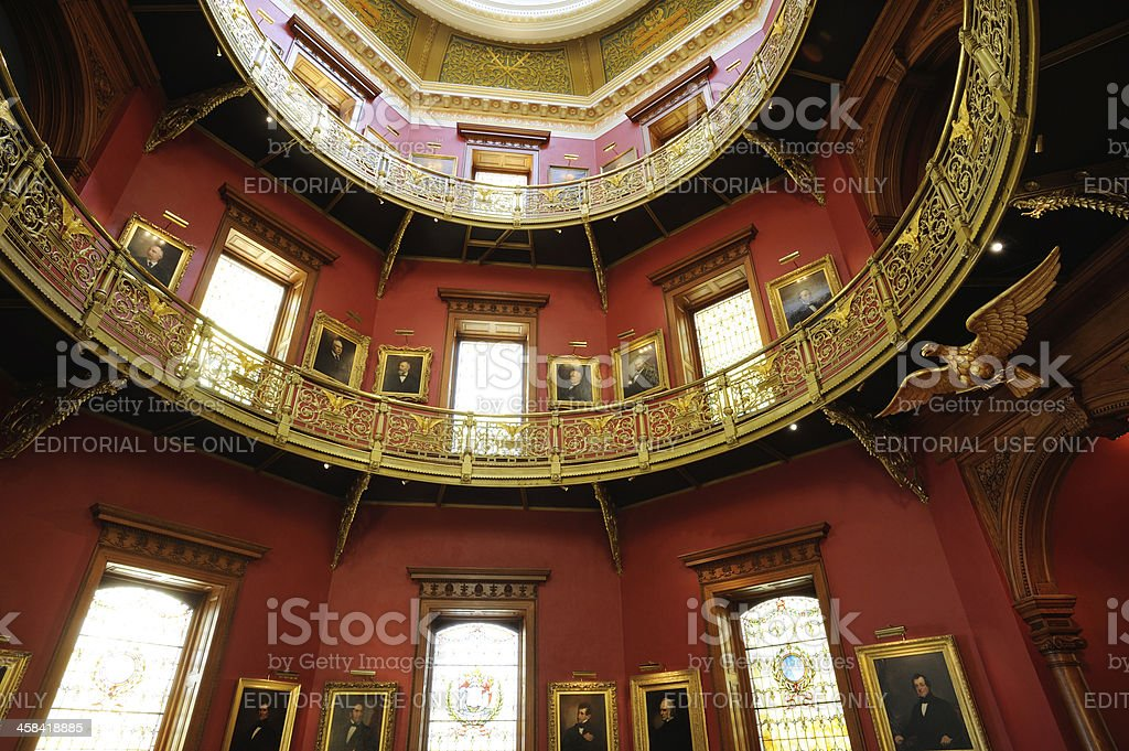 Rotunda of New Jersey State House royalty-free stock photo