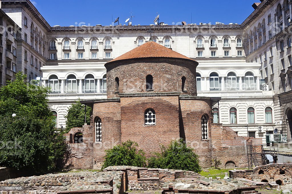 Rotunda Of Saint George In Sofia, Bulgaria stock photo