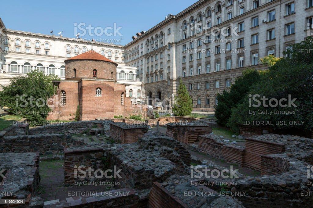 Rotunda of St. George. Architectural monument of Roman times. Sofia, Bulgaria. stock photo