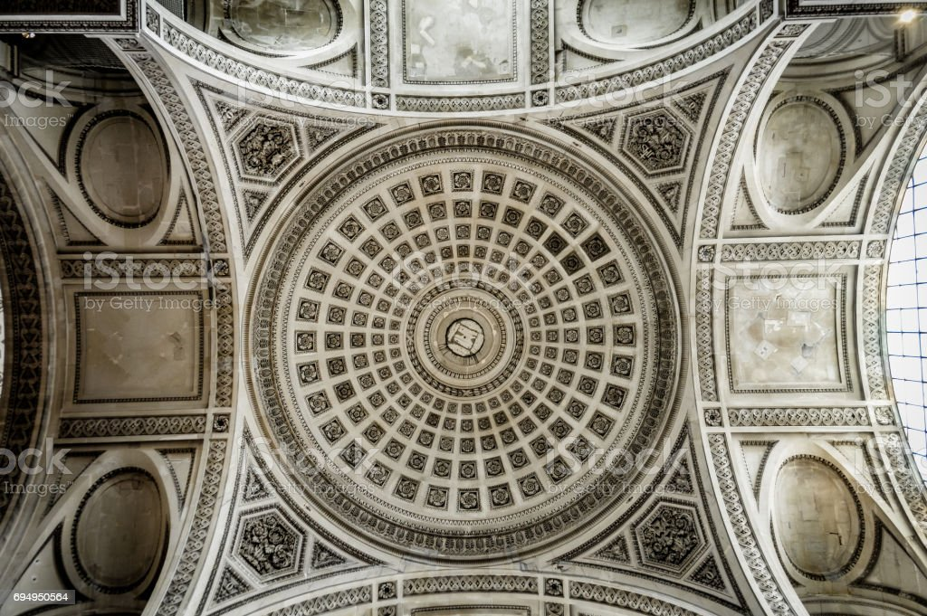 Rotunda of the Pantheon in Paris stock photo