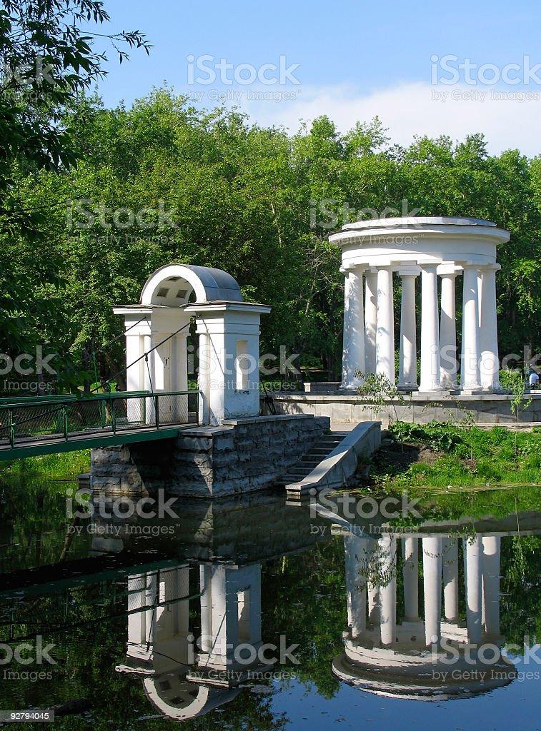 Rotunda on the pond royalty-free stock photo