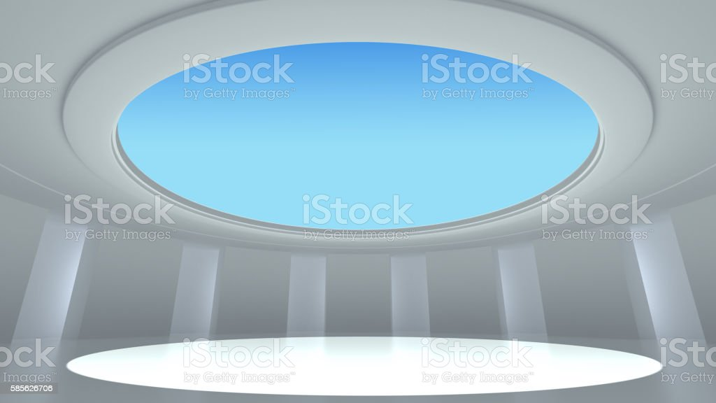 Rotundity show room stock photo