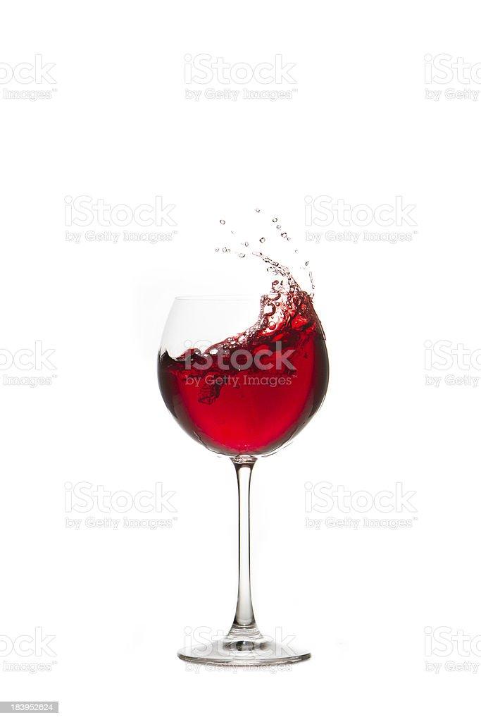Rotwein im Glas stock photo