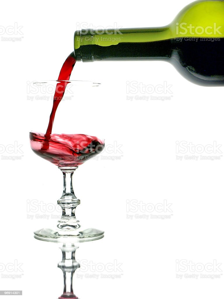 Rotwein stock photo