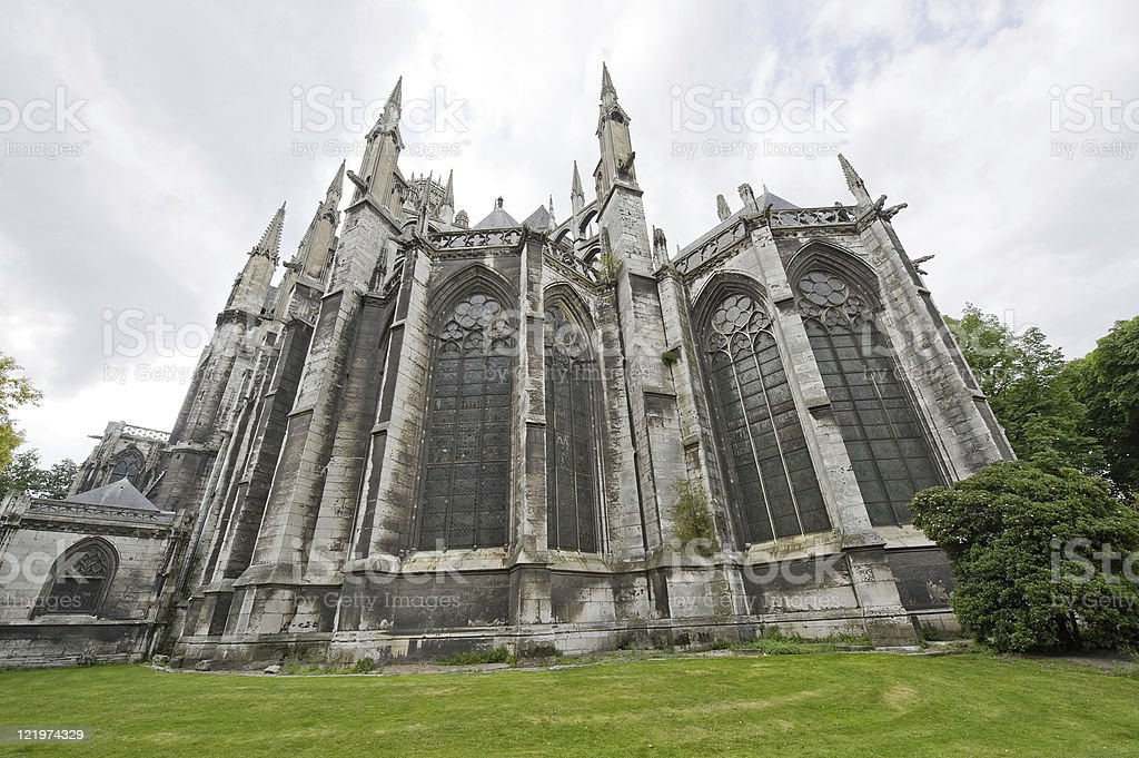 Rouen (Haute-Normandy, France) - Exterior of Saint-Ouen church royalty-free stock photo