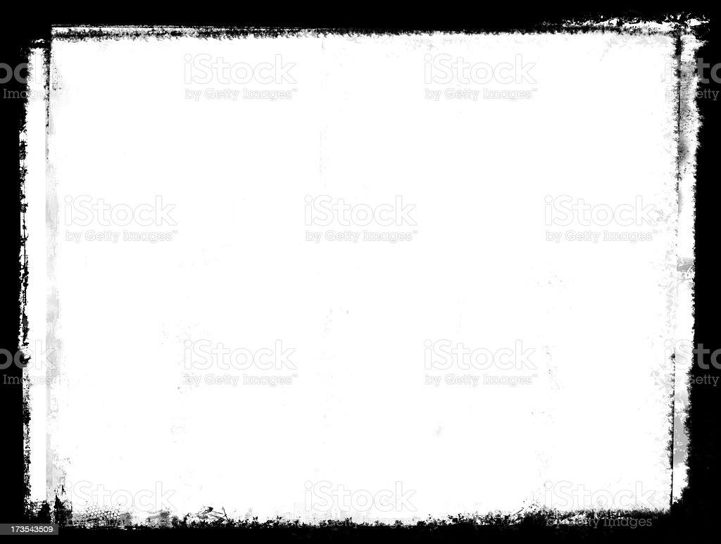 Rough black painted border on white royalty-free stock photo