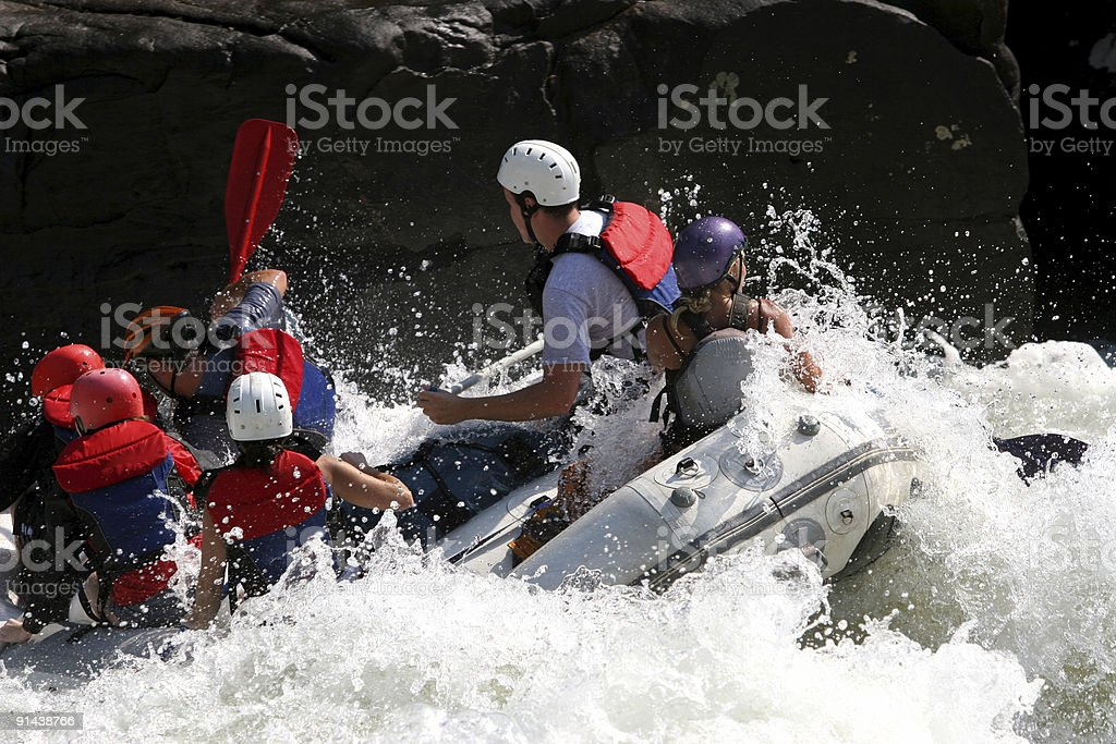 Rough Boating royalty-free stock photo
