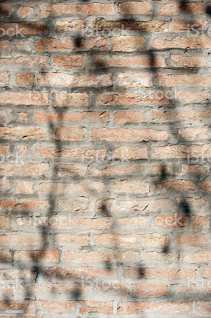 Rough  brick wall stock photo