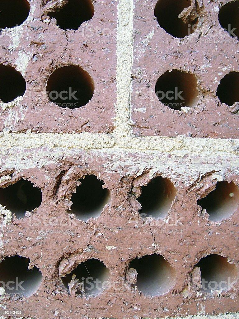Rough bricks royalty-free stock photo