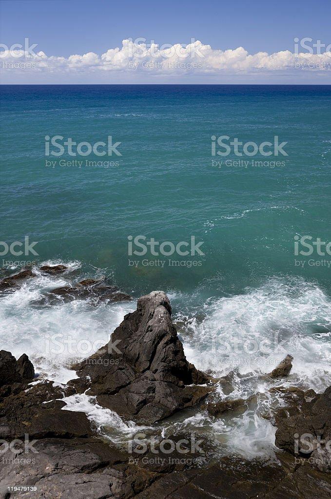 Rough coast. royalty-free stock photo