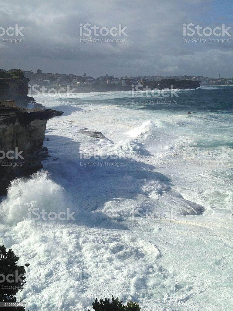 Rough coastline stock photo