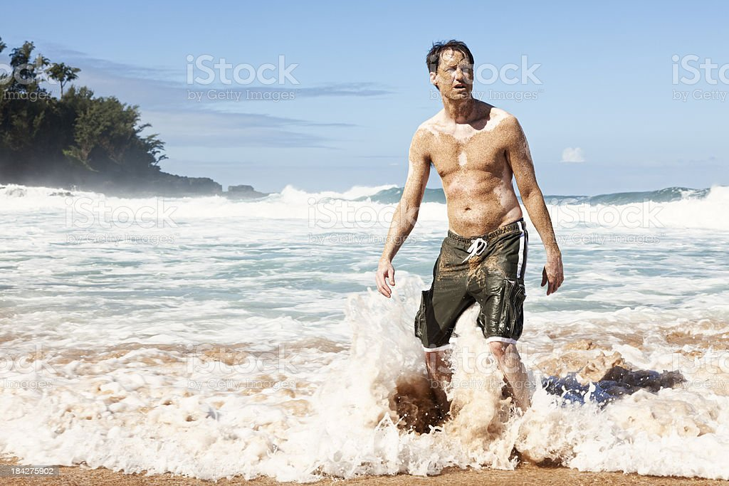 Rough Day at The Beach royalty-free stock photo