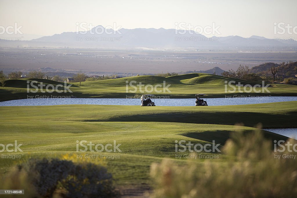 rough day on the course royalty-free stock photo