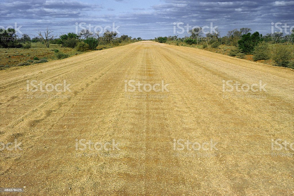 Rough dirt outback road royalty-free stock photo
