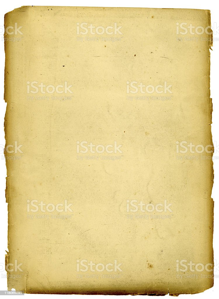 Rough edged aged paper royalty-free stock photo