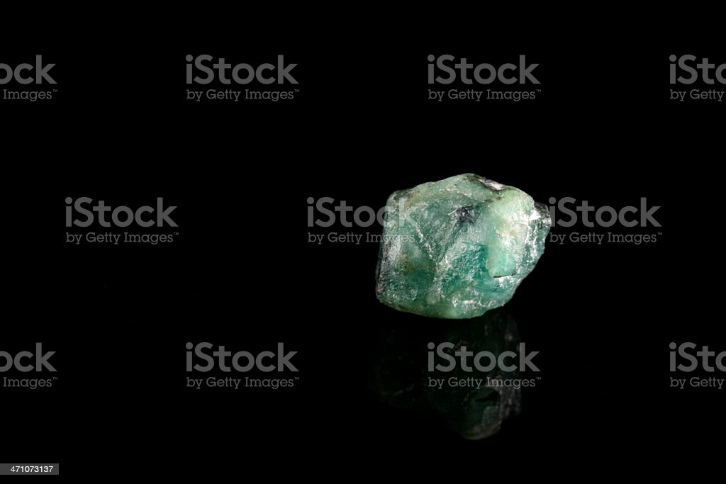 Rough Emerald royalty-free stock photo