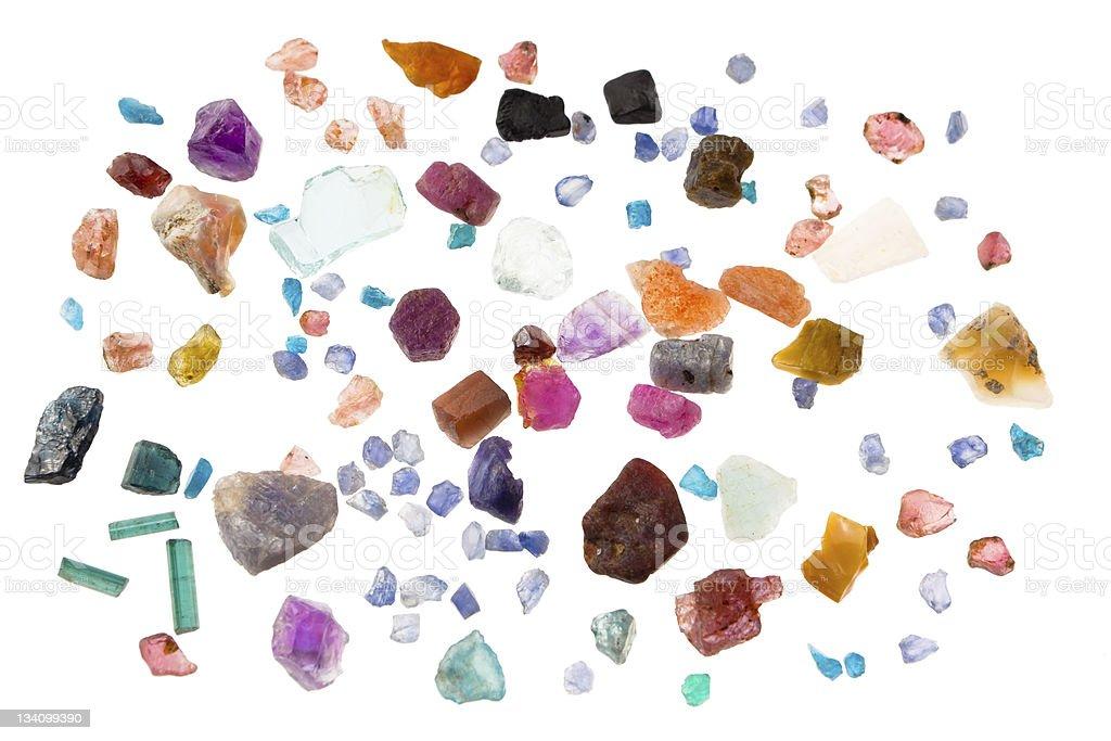 Rough gems stock photo