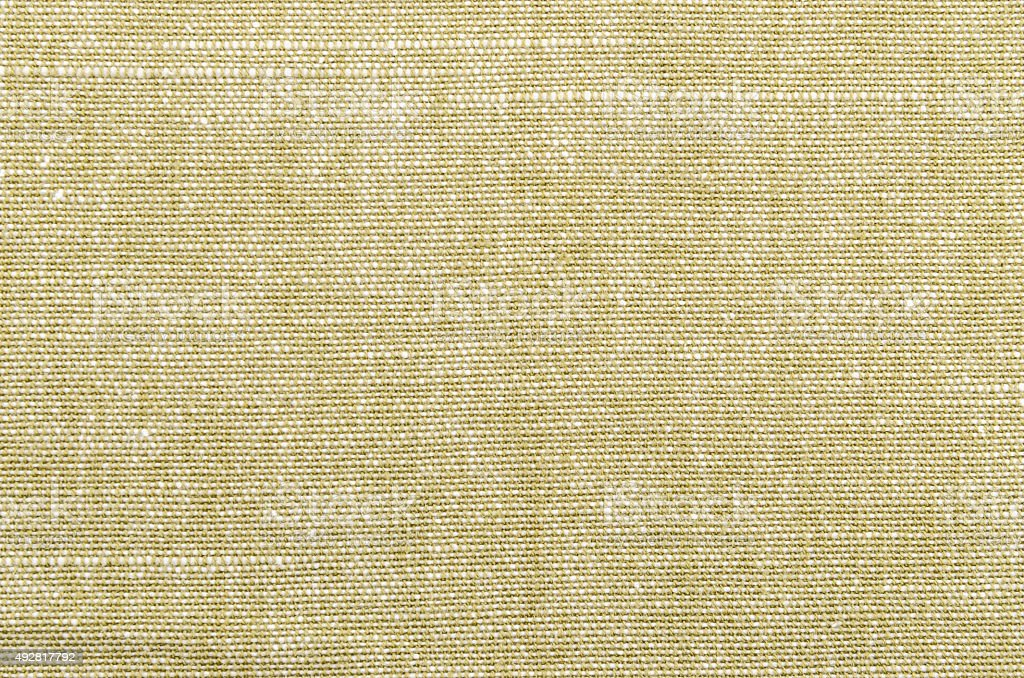 Rough khaki brown linen textile background stock photo