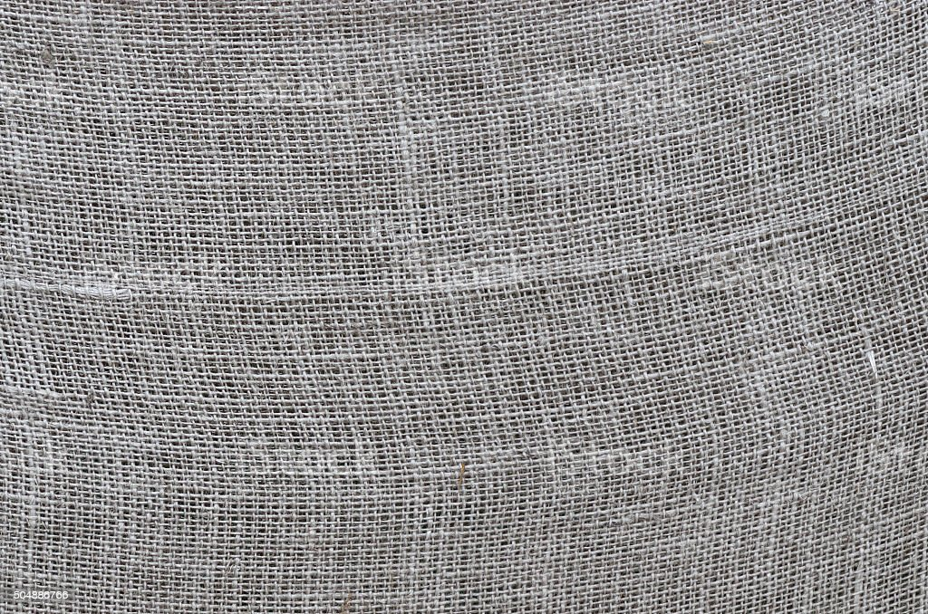 Rough linen cloth close-up stock photo