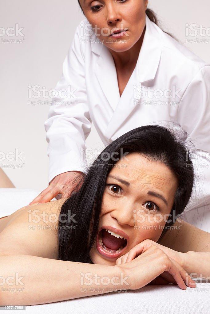 Rough massage stock photo