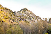Rough mountains in central norway during autumn