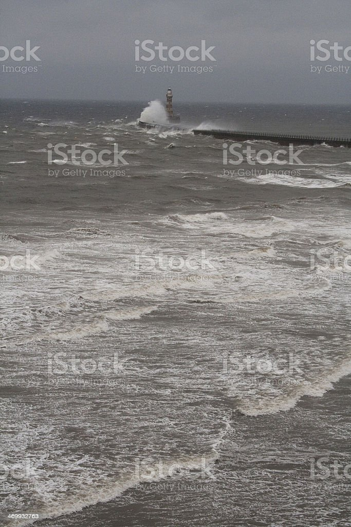 Rough North Sea waves stock photo