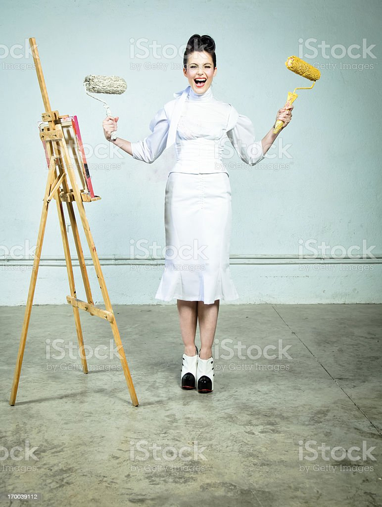 Rough painter royalty-free stock photo