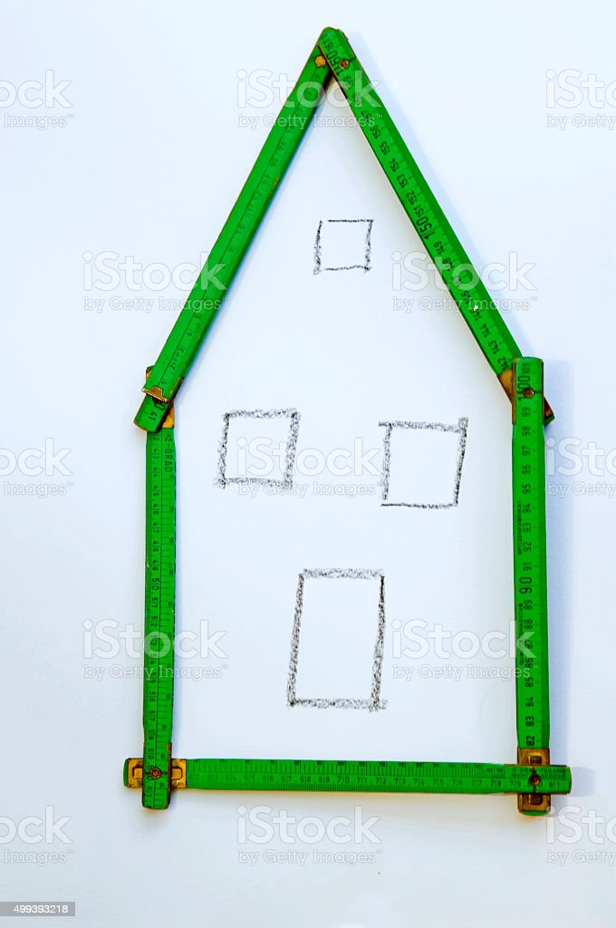 rough plan for a residential building stock photo