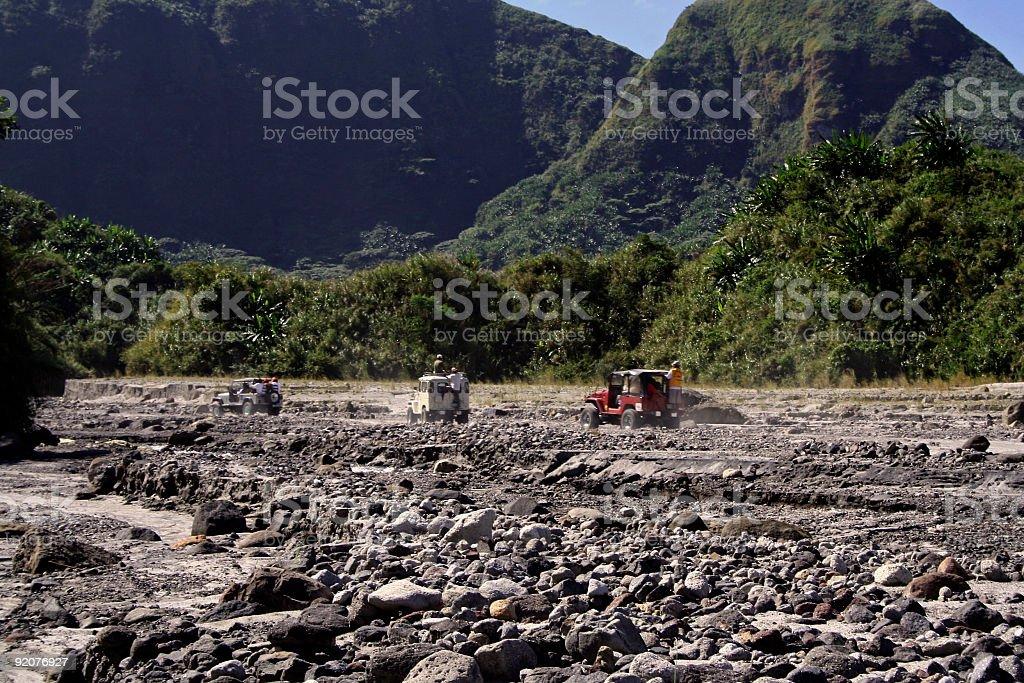 rough riders mount pinatubo valleys royalty-free stock photo