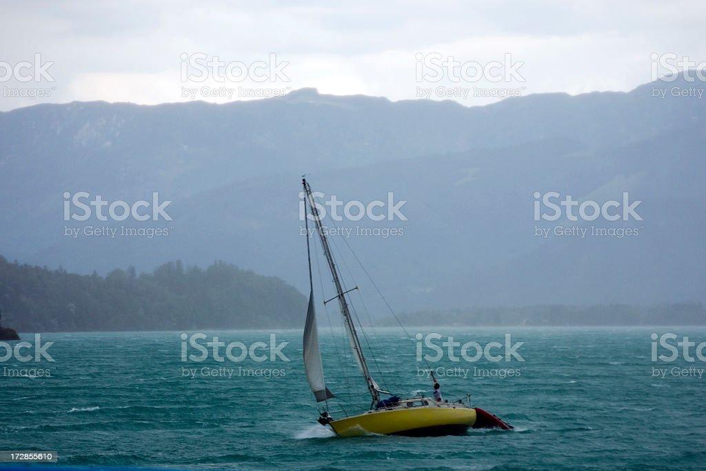 Rough Sailing stock photo