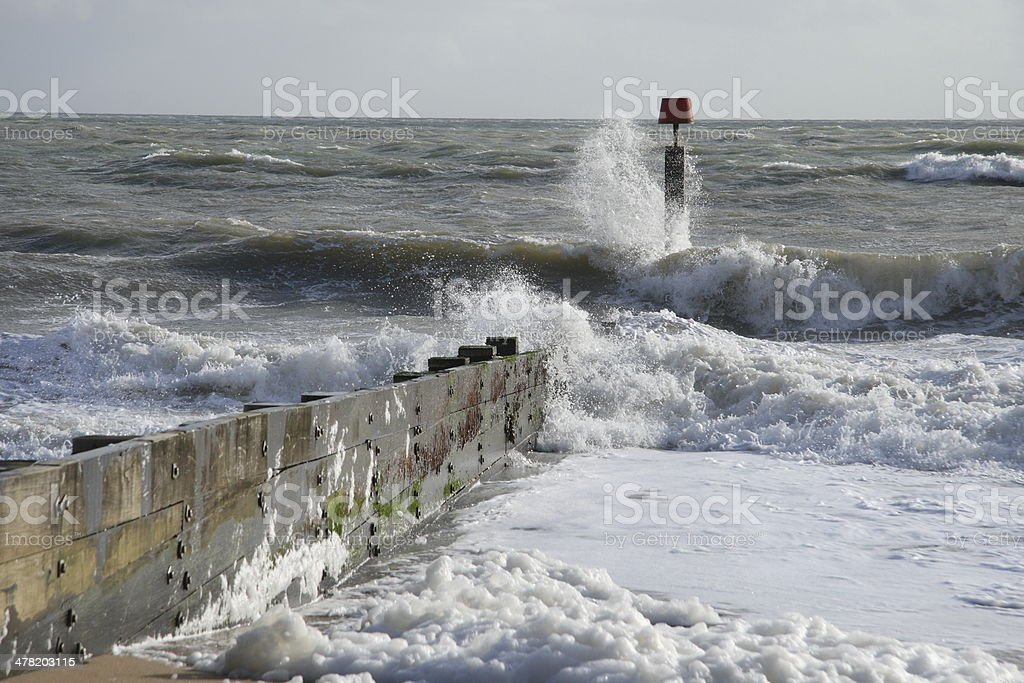Rough sea at Bournemouth royalty-free stock photo