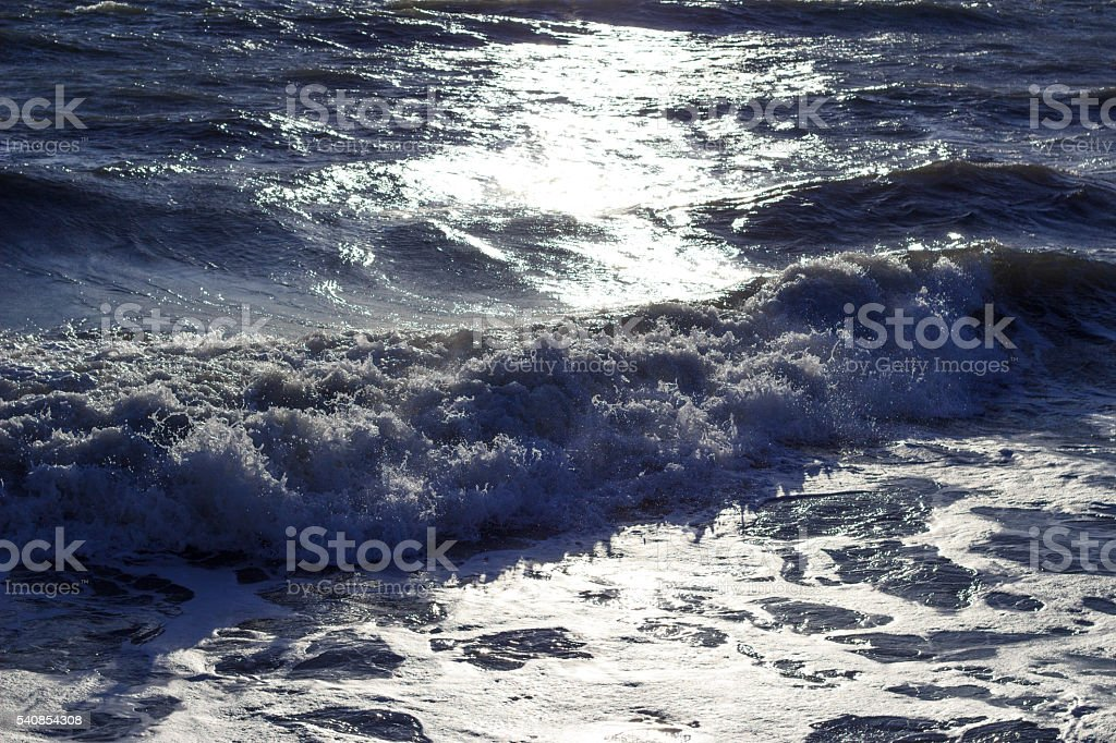 Rough sea stock photo