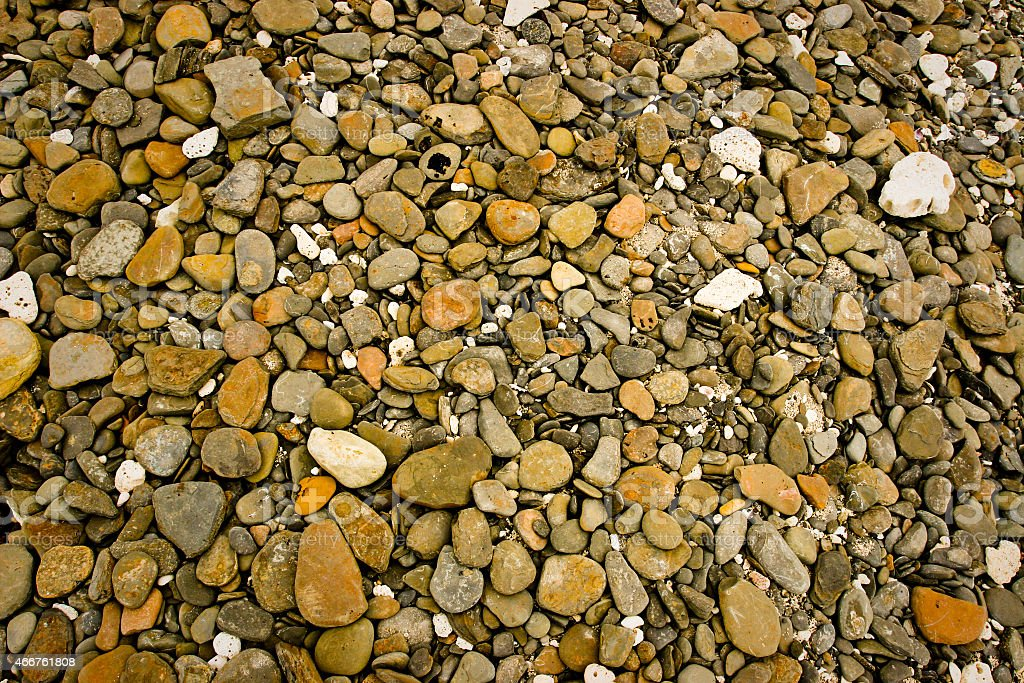 Rough Stones Background - Different types and shapes of stones stock photo