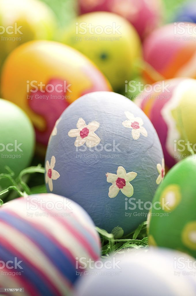 Rough stroked easter Egg stock photo