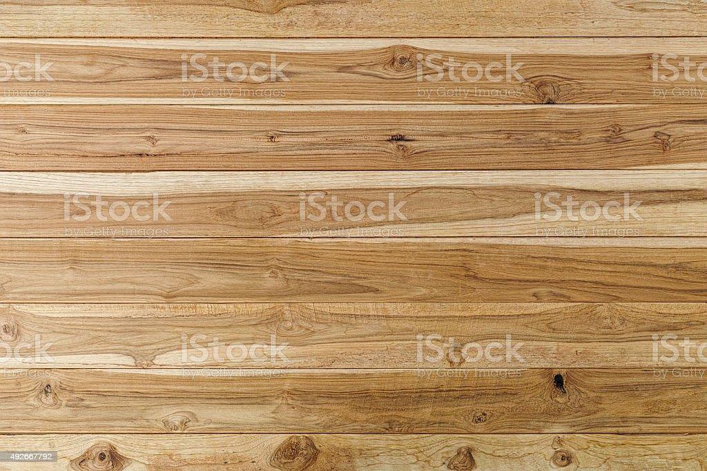 Rough teak wood panelling background. stock photo