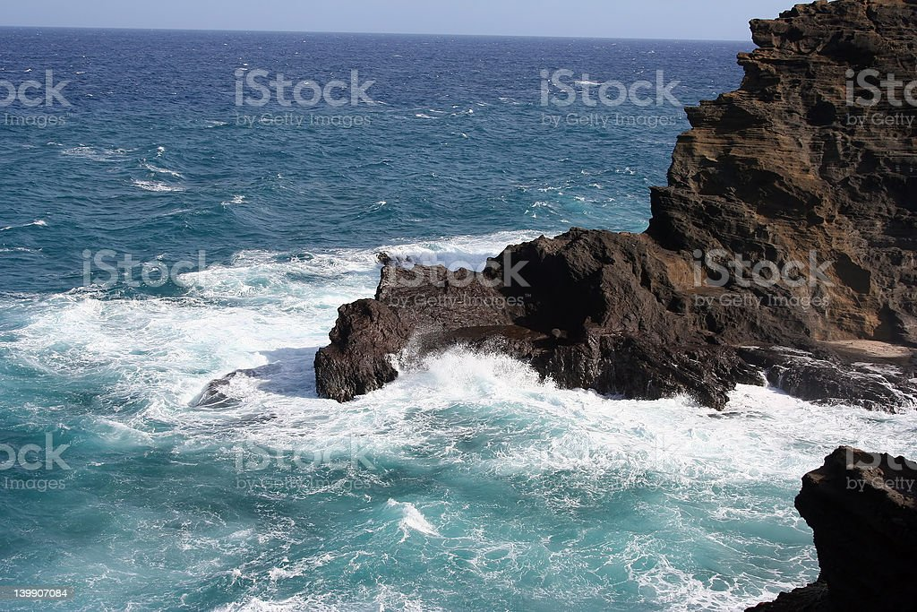 rough water against the rocks royalty-free stock photo