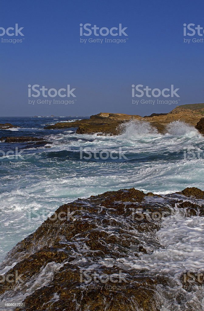 Rough waters stock photo