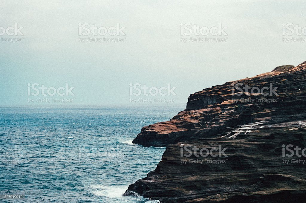 Rough Weather and Rough Water stock photo