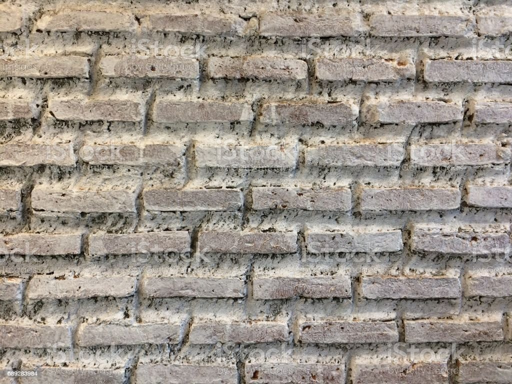 Rough white brick wall background. stock photo
