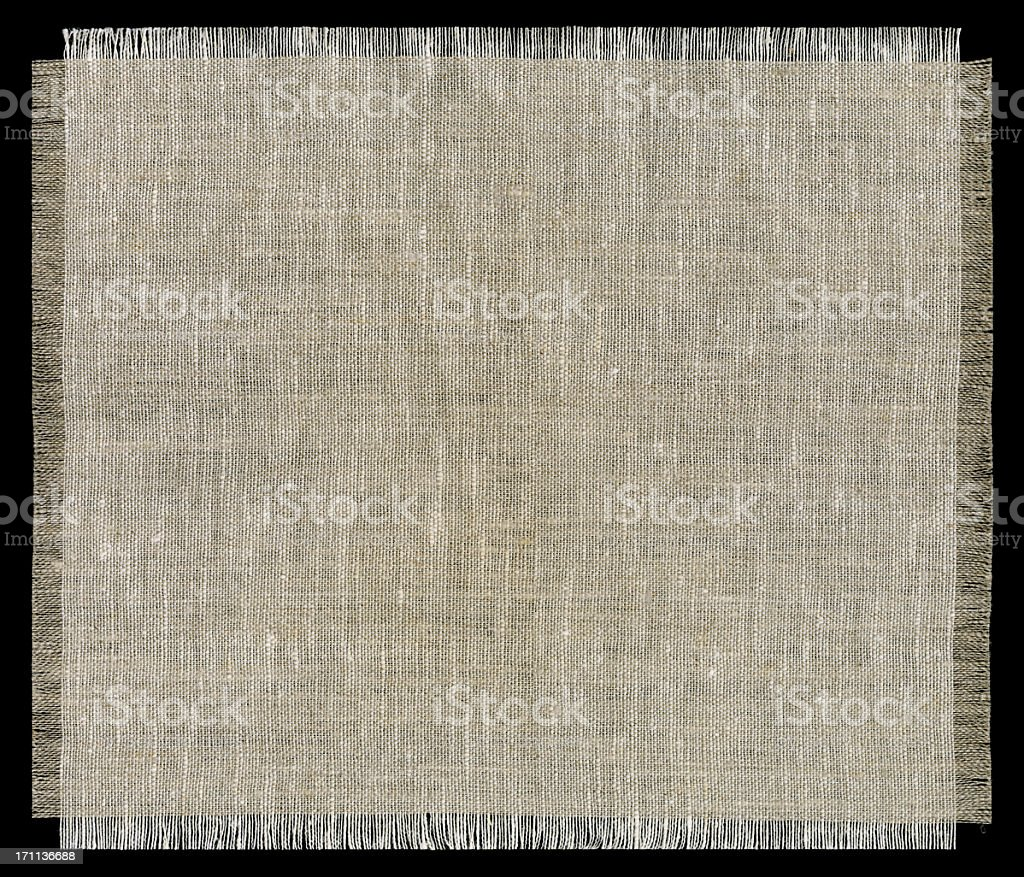 Rough Woven Fabric With Frayed Edges stock photo