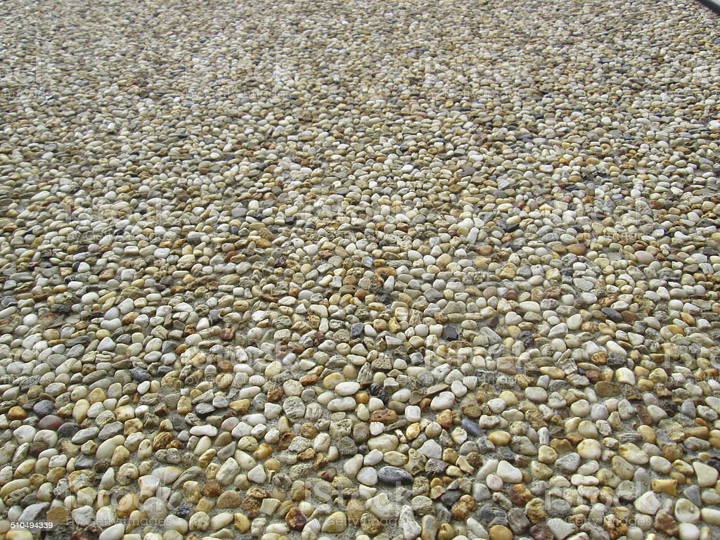 Roughcast / pebbledash image, wall texture background, small pebbles, plaster-cement render stock photo