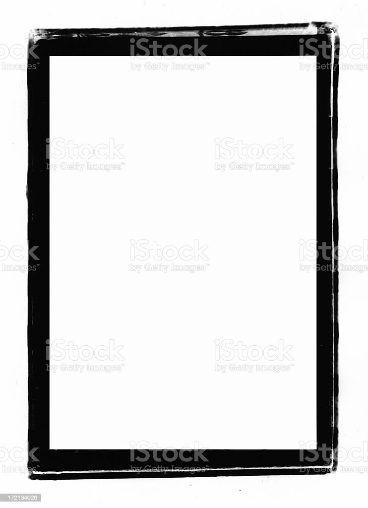 Roughed Negative Carrier Print Border stock photo
