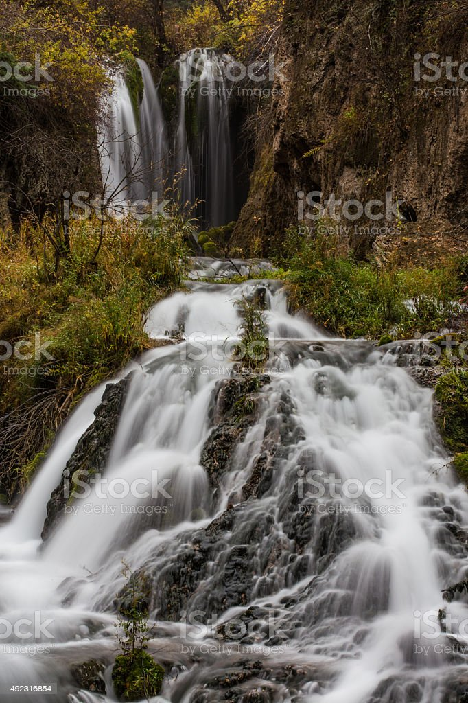 Roughlock Falls stock photo