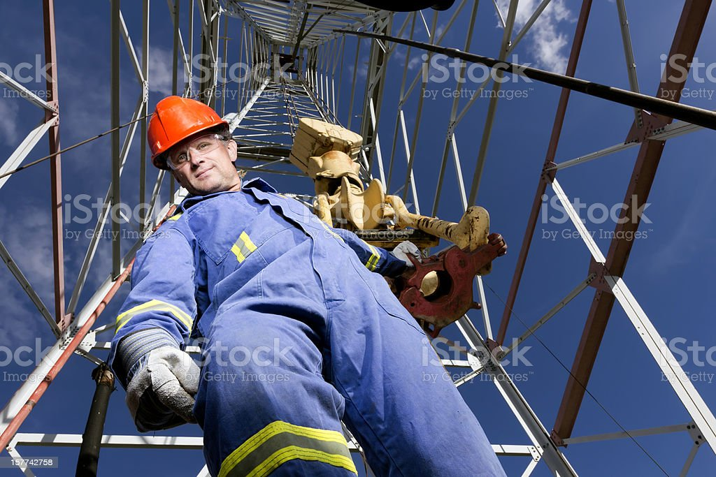 Roughneck and Derrick royalty-free stock photo