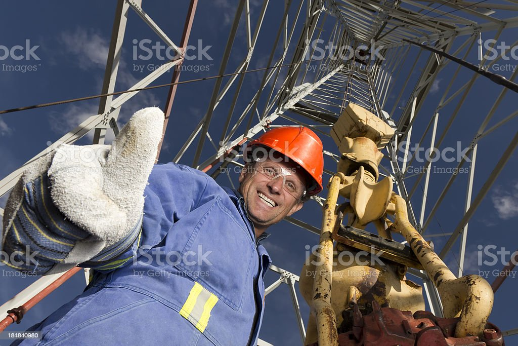 Roughneck Thumbs Up royalty-free stock photo